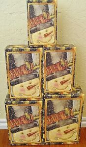 NEW Bob's Boxes (Top Hat) 5 Piece Christmas Gift Nesting Boxes