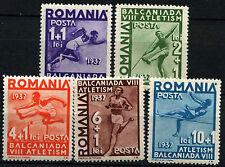 Romania 1937 SG#1362-6, 8th Balkan Games MNH Set #D34952