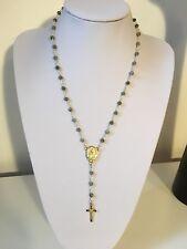 Collar estilo Labradorita Rosario Señora de Guadalupe/Santo Niño de Atocha-Nuevo