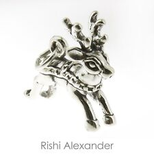 925 Sterling Silver Reindeer Rudolph Charm Made in USA