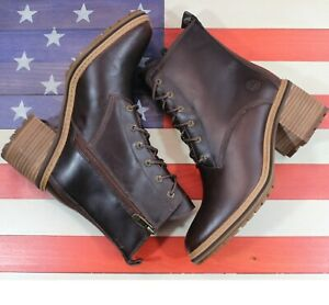 Timberland Sienna Brown Classic Leather Waterproof Boots $190 [A24TW201] Women 8