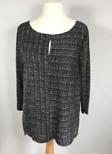 ROMAN ORIGINALS Black Silver Sparkle Shimmer Tunic Top Sizes 12,16, 20 RRP £30