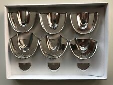 6 Dental Impression Trays set Solid Denture Instruments