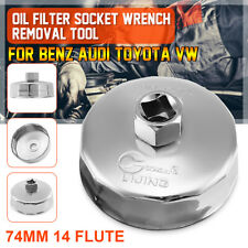 74mm 14 Flutes Oil Filter Socket Wrench Cup Cap Removal Tool For Audi Toyota VW