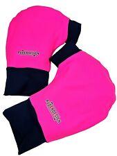 Ruderhandschuhe pink/schwarz mit Aufdruck, Rudern, Rowing, Poggies