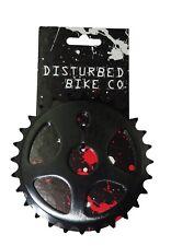 Disturbed BMX Chainring / Chainwheel 28th Alloy 1/2 x 1/8 Black CNC