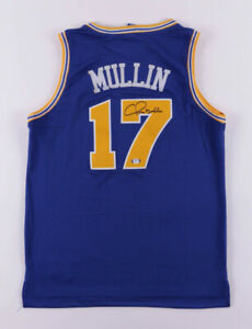 Chris Mullin Signed Golden State Warriors Champion NBA Style Jersey (PSA Holo)