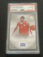 2013-14 SP AUTHENTIC GIANNIS ANTETOKOUNMPO RC #36 PSA 10 GEM MINT