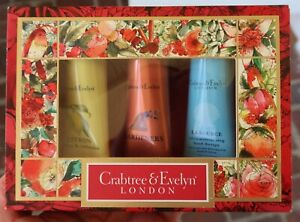 Vtg CRABTREE & EVELYN Hand Therapy LOTION Gift Set - CITRON Gardeners LA SOURCE