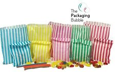 More details for candy stripe paper bags party wedding cake sweet treat pick&mix buffet gift shop