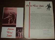 1964 Dance Year & Rhode Island American Festival Ballet Memorabilia Renzo Raiss