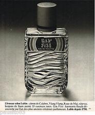 PUBLICITE ADVERTISING 055  1977  LUBIN  eau de toilette GIN FIZZ