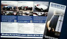 Prospekt brochure 2013 - 2014 Shelby Cobra 427 S/C * 289 FIA * 289 Roadster USA