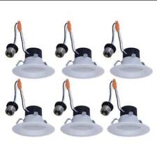 Lot of 6 Utilitech 4-in 50-watt Recessed Retrofit Downlight 2700K Soft White