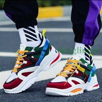 Men's Low Top Breathable Lace Up Athletic Shoes Running Street Sports Casual New