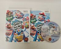 Hasbro Family Game Night 3 (Nintendo Wii, 2010) Complete | Cleaned & Tested