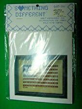 "Something Different Cross Stitch Heart ""Stars"" Red White Blue Flag Kit (Cm)"
