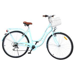 "28 Zoll SHIMANO 7 Gang Damenfahrrad Retro Fahrräder 28"" Citybike Mädchen Fahrrad"