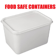 More details for 4 litre rectangular ice cream tubs with lids / kitchen food storage containers