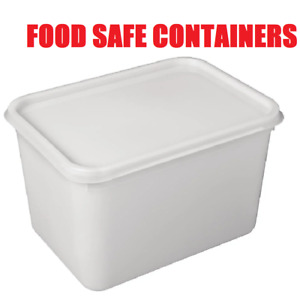 4 LITRE RECTANGULAR ICE CREAM TUBS WITH LIDS / KITCHEN FOOD STORAGE CONTAINERS