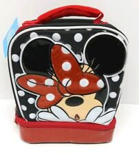 Minnie Mouse Lunch Bag School Storage Tote Disney New
