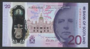 BANK OF SCOTLAND NEW POLYMER £20 UNCIRCULATED PREFIX [ AG 816668 ]  FREEPOST UK