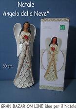 NATALE ANGELO della NEVE 30 cm Decorazione Casa Vetrina Addobbi Natalizi