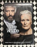 The Wife Glenn Close Christian Slater Jonathan Price DVD Movie Drama NEW C9-7