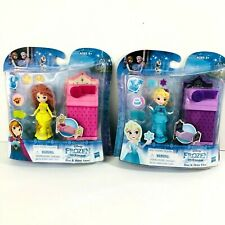 Disney Princess Little Kingdom Frozen Anna Rise & Shine Anna Elsa Dolls & Beds
