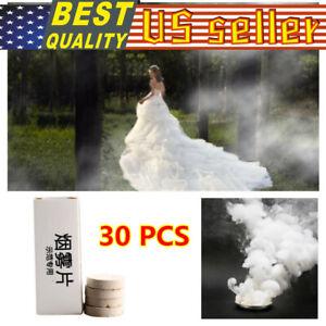10-50PCS Smoke Cakes-White Smoke Cake Smoke Emitter Effect Bomb For Photography