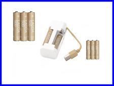 AA AAA Universal USB Charger + 4pcs AA and 4pcs AAA Set Rechargeable Batteries