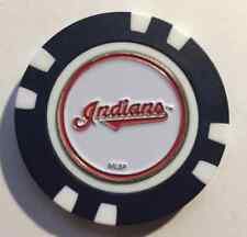 MLB Cleveland Indians Magnetic Poker Chip removeable Golf Ball Marker