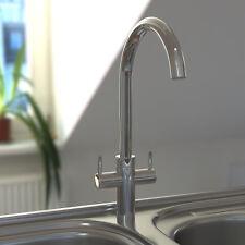 Modren Chrome Twin Level Swivel Spout Kitchen Bathroom Sink Mixer Taps Faucet
