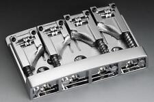 SCHALLER 3D-4 4 String High Mass Bass Bridge w/ Adjustable Roller Saddles CHROME