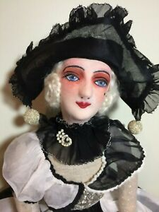 Vintage French Boudoir Doll W New Clothing 33""