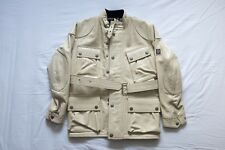 BELSTAFF PANTHER Leather Jacket in Cream Beige Size S SMALL 40 Great Condition!