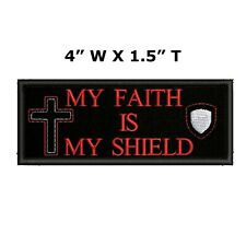 Faith & Character Cross Embroidered Patch Iron / Sew-On Religious Jesus Applique
