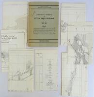 1948 California Journal MINES & GEOLOGY 7 MAPS Mt Jackson Sonoma History Vintage