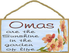 """Dogwood Omas Are The Sunshine In The Garden Of Life SIGN Plaque 5""""X10"""" Oma"""
