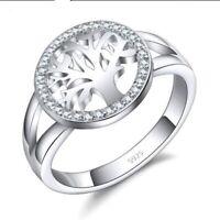 925 Sterling Silber Ring Damen NEU Edel AAA Zirkonia Steine Gr. 18/58