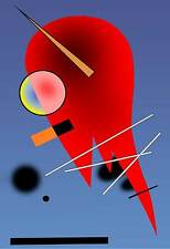 Kandinsky # 01 cm 50x70 Poster Stampa Grafica Printing Digital Fine Art papiarte