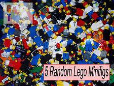 Lego 5 Random Minifigures - Minifig Mini Fig - City Police Fire Space Castle