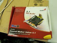 Genius 5.1 PCI Audio Card --- Brand --  New