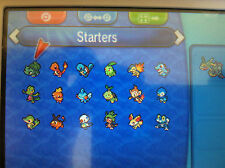 All 18 Shiny Starters Pokemon Omega Ruby Alpha Sapphire ORAS Sun Moon Ultra 3DS