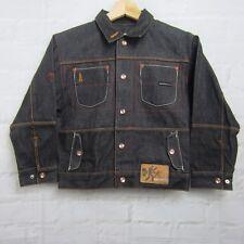 Platinum FUBU Limited Black Jean Jacket Boys Size 6 Large Muhammad Ali Vintage