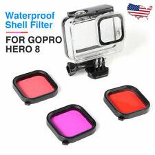 3 color Underwater Diving Lens Filter For GoPro Hero 8 Housing Case Waterproof