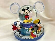 New ListingBradford Exchange Disney Mickey Mouse Glitter Globe With Motion w/ Music Damaged