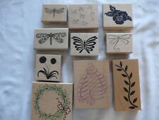 Stamps - 10 Just For You - Heart Swirl, Butterfly, Dragonflies, Pansy, Sunflower