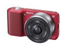 New! Sony Alpha Alpha NEX-3 14.2 MP Digital Camera - Red (Kit w/ 16mm Lens)