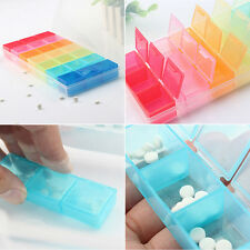 7 Day Tablet Pill Box Holder Weekly Medicine Storage Organizer Container Case LJ